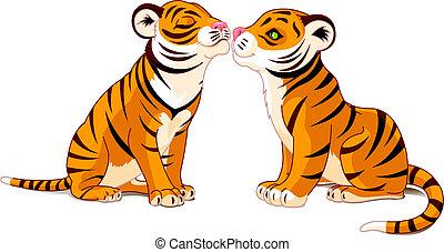 liebe, tiger, zwei
