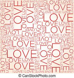 Liebeswort-Collage.