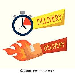 Lieferung Chronometer mit Paketservice.