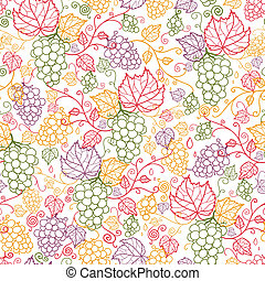Line art vines nahtlose Muster Hintergrund.