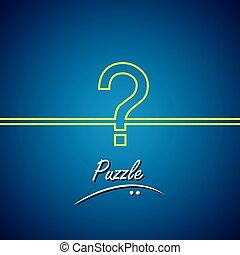 Line Vektor Icon der Fragezeichen oder Puzzle