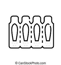 linear, begriff, grobdarstellung, pflaster, ikone, symbol., zeichen, vektor, linie, abbildung