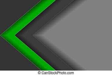 linie, dreieck, grün, schwarz, hintergrund, grau, abstrakt, pfeil