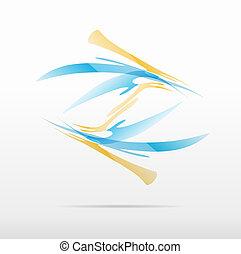 logo, abstraktes design, geschaeftswelt, ikone