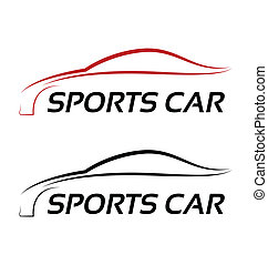 logo, calligraphic, auto, sport
