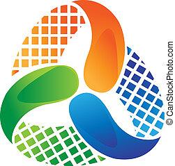 Logo-Entwicklungsvektor-Aktien deaktivieren