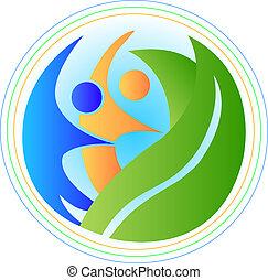 logo, harmonie, leute