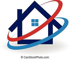 Logo Haus kalt-heiße Luft.