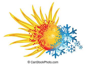 Logo heiß und kalt