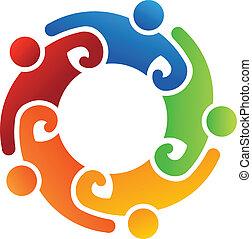 logo, mannschaft, 5, freiwilliger