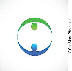 logo, mannschaft, leute geschäft, partner