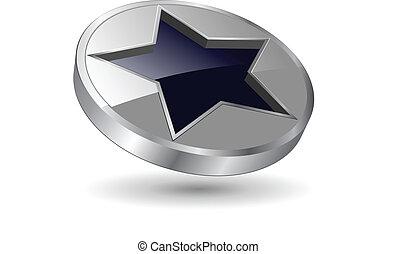 Logo metallischer Stern