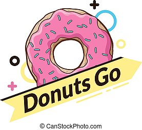 Logo mit Donut. Dynamisches Logo