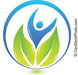 logo, natur, gesundheit, leute