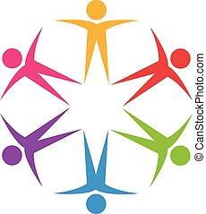 Logo optimistische Teamwork.