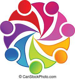 logo, sozial, gemeinschaftsarbeit, networking