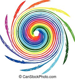 Logo Spiralwellen Regenbogenfarbe.