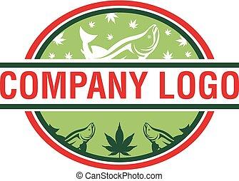 logo, vektor, cannafish, design.