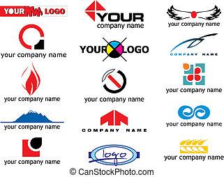 logo, vektor, elemente