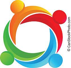 logo, verschieden, gemeinschaftsarbeit