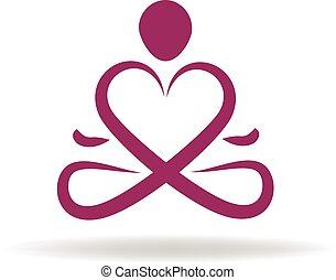 Logo Yoga Liebessymbol.