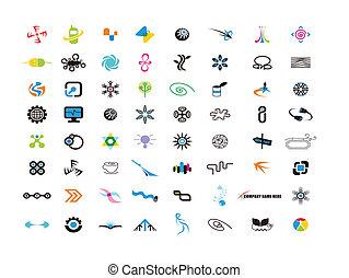 Logodesignelemente für Designer.
