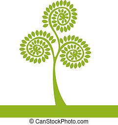 Logogrüner Baum