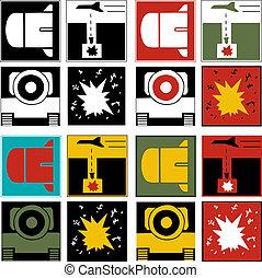 logos, kriegsbilder