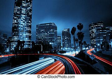 Los Angeles, Stadt mit Autobahnverkehr
