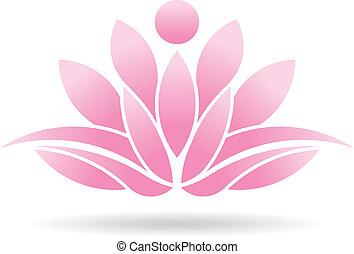 lotos, person, logo