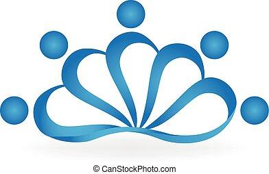 Lotus Teamwork Menschen Logo.