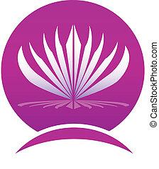 Lotusblätterrahmen-Logo.