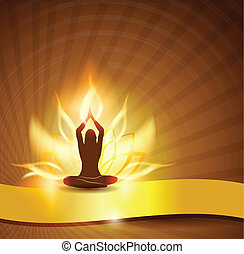 Lotusblüte - Feuer und Yoga.