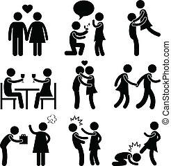 Lover-Paar-Liebes-Umarmung