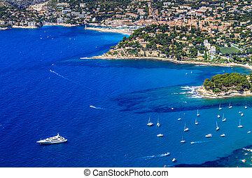 Luftaufnahme von der Kassis und der kalanken Küste, Südfrance