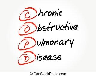lungen, begriff, hinderlich, chronisch, copd, krankheit, -, akronym