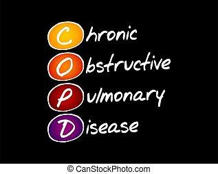 lungen, -, chronisch, hinderlich, krankheit, copd