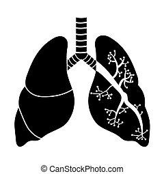 Lungen in Schwarz und Weiß