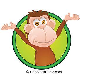 Lustiger Affen-Zeichentrick