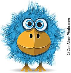 Lustiger blauer Vogel