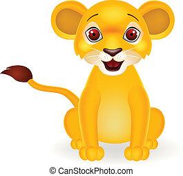 Lustiger Löwen-Zeichentrickfilm