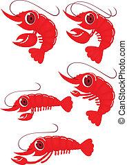 Lustiger Shrimp-Cartoon