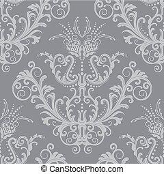 Luxury-silber Blumentapete