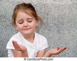 Mädchen beten