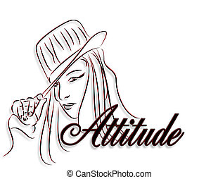 Mädchen mit Einstellungslogo