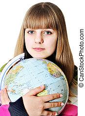Mädchen und Welt