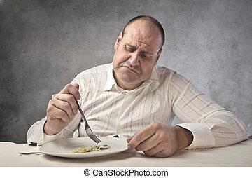 Männer essen