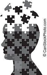 Männer-Puzzle.