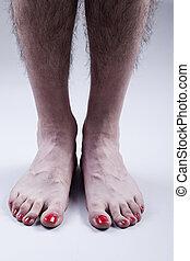 Männerfüße nagellack Nail Polish