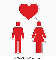 Männliche Liebe mit Frauen